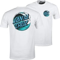 Santa Cruz Wave Dot T-Shirt - white