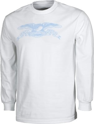 Anti-Hero Basic Eagle L/S T-Shirt - white/light blue - view large