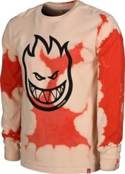 Spitfire Bighead L/S T-Shirt - orange wash/black print