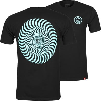 Spitfire Classic Swirl T-Shirt - black/teal - view large