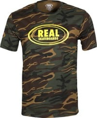 Real Oval T-Shirt - camo/yellow