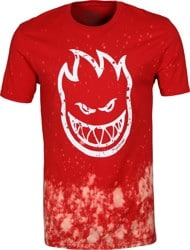 Spitfire Bighead Outline Fill T-Shirt - red wash/white print