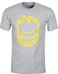Spitfire Bighead T-Shirt - athletic heather/yellow print