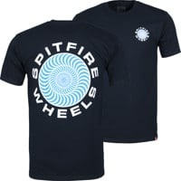 Spitfire Classic 87' Swirl T-Shirt - navy/white/blue