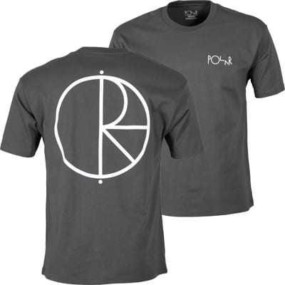 Polar Skate Co. Stroke Logo T-Shirt - graphite/white - view large