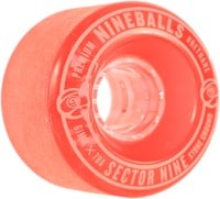 Sector 9 61mm Nineballs Longboard Wheels - red (78a)