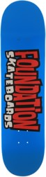 Foundation From The 90's 8.25 Skateboard Deck - blue