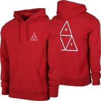 HUF Essentials Triple Triangle Hoodie - rio red