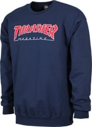 Thrasher Outlined Crew - navy/red