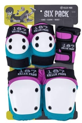 187 Killer Pads Six Pack Junior Pad Set - pink/teal - view large