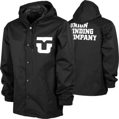 Union Team Hooded Coach Jacket - black - view large