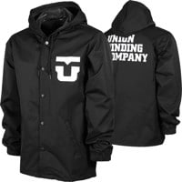 Union Team Hooded Coach Jacket - black