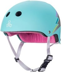 Triple Eight THE Certified Sweatsaver Skate Helmet - teal hologram