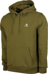 Converse Star Chevron Embroidered Hoodie - dark moss