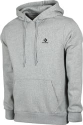Converse Star Chevron Embroidered Hoodie - vintage grey heather
