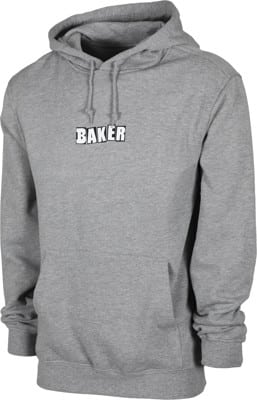 Baker Brand Logo Hoodie - heather grey - view large