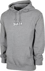 Baker Brand Logo Hoodie - heather grey