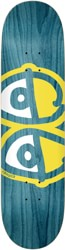 Krooked Team Eyes 8.38 Skateboard Deck - teal