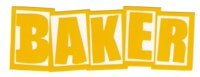 Baker Brand Logo Sticker - yellow/white