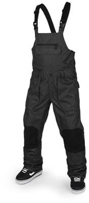 Volcom Roan Bib Overall Pants - black static - view large