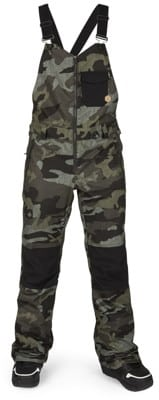 Volcom Swift Bib Overall Pants - service green camo - view large