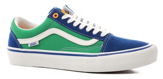 Vans Old Skool Pro Skate Shoes - (sci-fi fantasy) true blue/green - view large