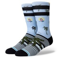 Stance Aloha Monkey Sock - light blue