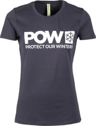 Protect Our Winters POW Logo Women's T-Shirt - navy