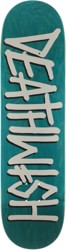 Deathwish Deathspray 8.25 Skateboard Deck - teal