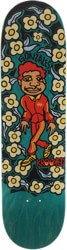 Krooked Gonz Sweatpants 8.5 Skateboard Deck - teal