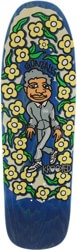 Krooked Gonz Sweatpants 9.81 Skateboard Deck - blue