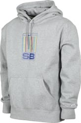 Nike SB Stripes GFX Hoodie - dark heather grey