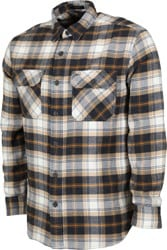 Pendleton Burnside Flannel Shirt - dark navy/tan plaid