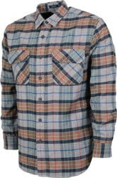 Pendleton Burnside Flannel Shirt - grey multi plaid