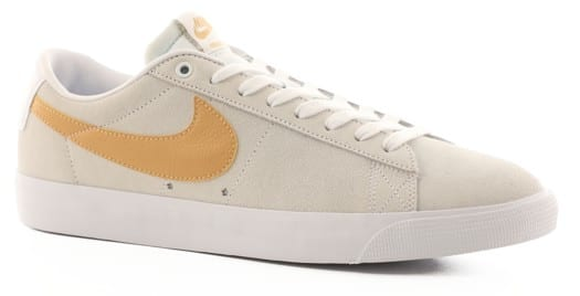 Nike SB Zoom Blazer Low GT Skate Shoes - white/club gold-white-light thistle - view large
