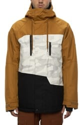 686 Geo Insulated Jacket - golden brown colorblock
