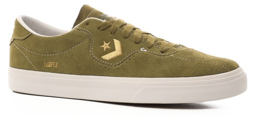 Converse Louie Lopez Pro Skate Shoes - dark moss/gold/white - view large