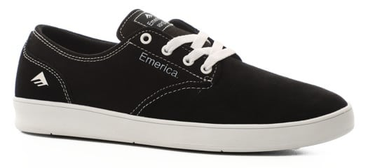 Emerica Romero Laced Skate Shoes - black/white/black - view large