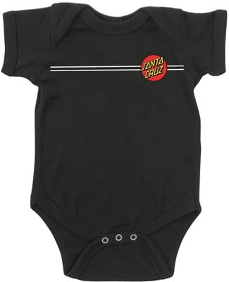 Santa Cruz Classic Dot Infant Onesie - black - view large