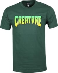 Creature Logo T-Shirt - forest green