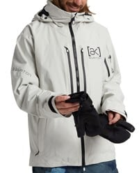 Burton AK Gore-Tex Swash Insulated Jacket - solution dyed light gray
