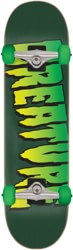 Creature Logo 8.0 Complete Skateboard - green/green wheels