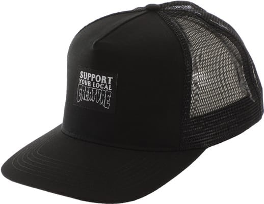Creature Support Label Trucker Hat - black/black - view large