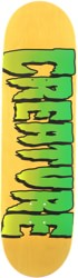 Creature Logo 8.0 Stumps Skateboard Deck - yellow