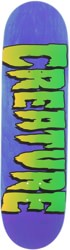 Creature Logo 8.25 Stumps Skateboard Deck - blue