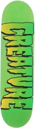Creature Logo 8.51 Stumps Skateboard Deck - green