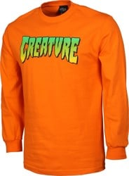 Creature Logo L/S T-Shirt - orange