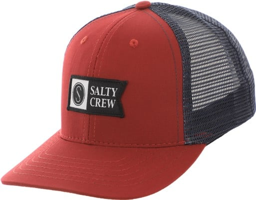 Salty Crew Pinnacle Retro Trucker Hat - burgundy - view large