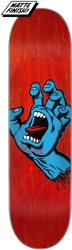 Santa Cruz Screaming Hand 8.0 Skateboard Deck - red