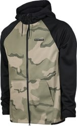 Burton Crown Weatherproof Fleece Full Zip Hoodie - barren camo/true black